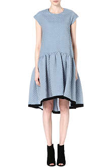 VICTORIA VICTORIA BECKHAM Dropped-waist textured dress
