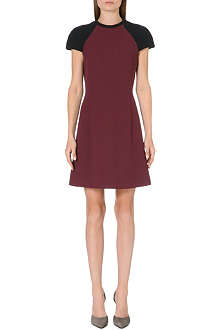 VICTORIA VICTORIA BECKHAM Raglan-sleeve wool dress