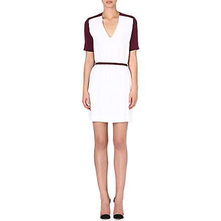 VICTORIA VICTORIA BECKHAM Contrast back dress (Optic white/ plum