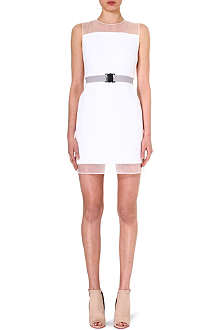 VICTORIA VICTORIA BECKHAM Sheer-detail crepe dress
