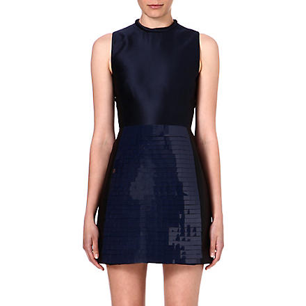 VICTORIA VICTORIA BECKHAM Sequin sleeveless dress (Navy/ black