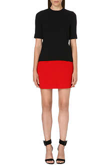 VICTORIA VICTORIA BECKHAM Two-tone wool dress