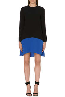 VICTORIA VICTORIA BECKHAM Flared crepe dress