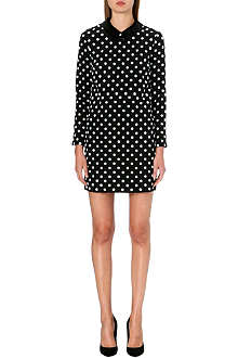 VICTORIA VICTORIA BECKHAM Polka dot silk dress