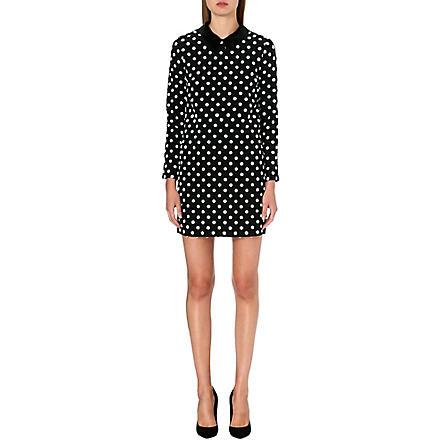 VICTORIA VICTORIA BECKHAM Polka dot silk dress (Black/off white