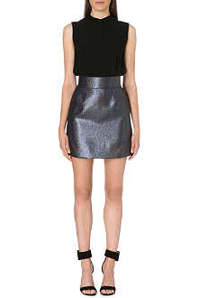 VICTORIA VICTORIA BECKHAM Crepe and metallic dress