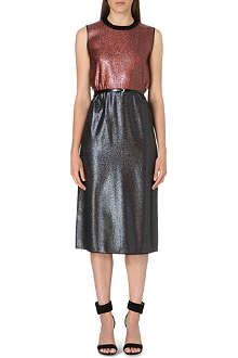 VICTORIA VICTORIA BECKHAM Two-tone metallic dress