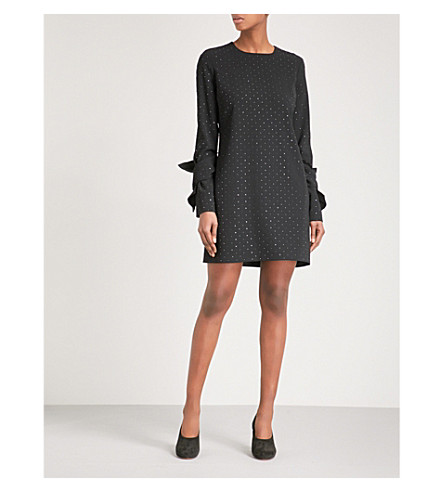 VICTORIA VICTORIA BECKHAM Sequin-embellished crepe dress (Black