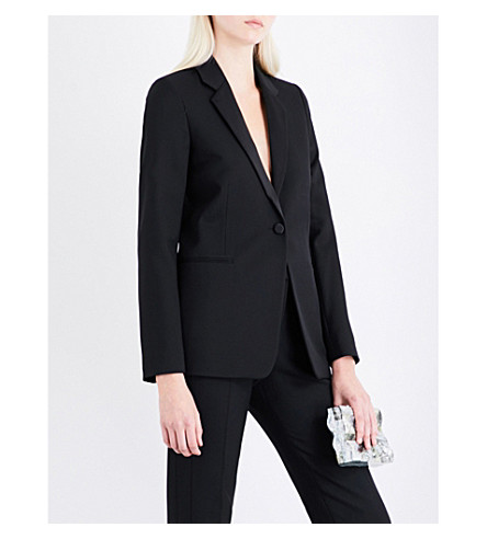 VICTORIA BECKHAM Single-breasted wool jacket (Black