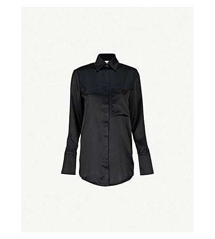 VICTORIA VICTORIA BECKHAM 丝缎衬衫 (黑色