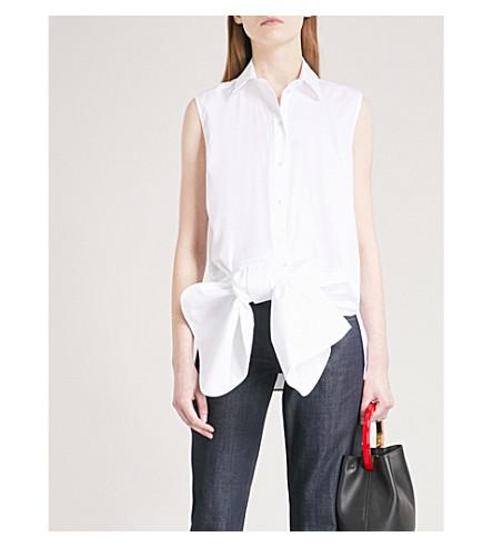 VICTORIA VICTORIA BECKHAM Bow cotton-poplin shirt (White