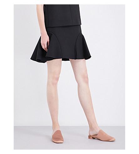 VICTORIA VICTORIA BECKHAM Flared mid-rise woven skirt (Black