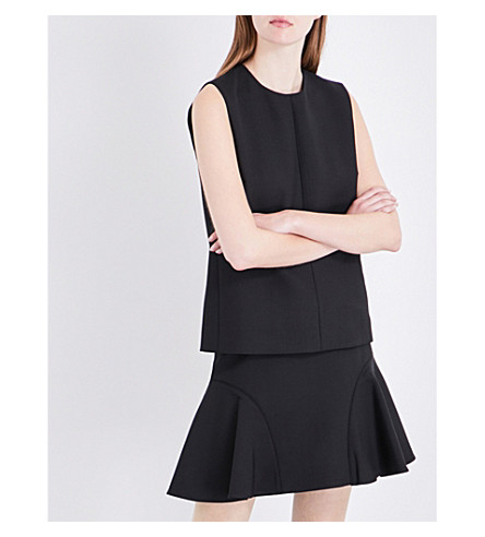 VICTORIA VICTORIA BECKHAM Sleeveless crepe top (Black