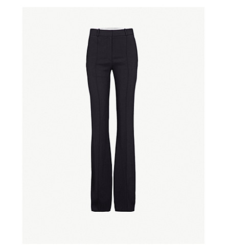 VICTORIA BECKHAM Cady crepe trousers (Black