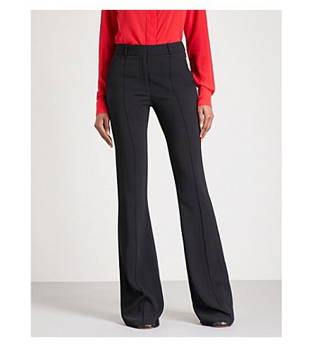 VICTORIA BECKHAM Cady crepe trousers (Black
