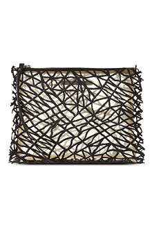 CHRISTOPHER KANE Crackle embroidered clutch