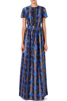 CHRISTOPHER KANE Floral zip-detail maxi dress