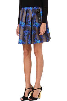 CHRISTOPHER KANE Floral zip-detail skirt