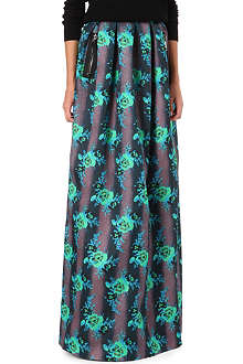 CHRISTOPHER KANE Floral zip-detail maxi skirt