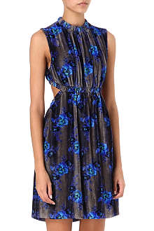 CHRISTOPHER KANE Floral cut-out velvet dress