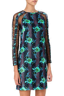 CHRISTOPHER KANE Velvet and mesh dress