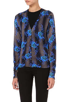 CHRISTOPHER KANE Floral knitted-silk cardigan