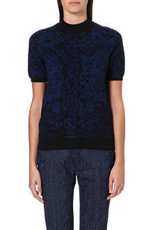 CHRISTOPHER KANE Jacquard-knit cashmere jumper