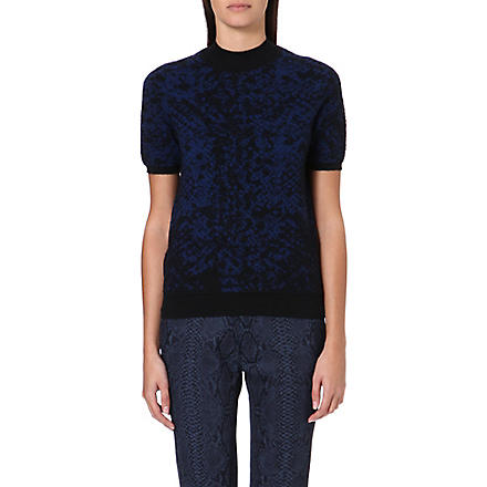 CHRISTOPHER KANE Jacquard-knit cashmere jumper (Navy