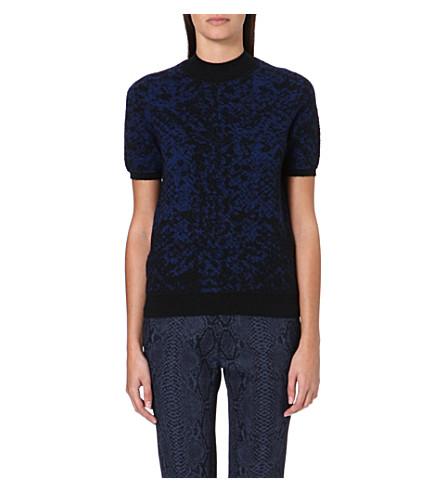 CHRISTOPHER KANE Jacquard-knit cashmere jumper (Navy