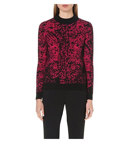CHRISTOPHER KANE Jacquard-knit cashmere jumper (Fuchsia