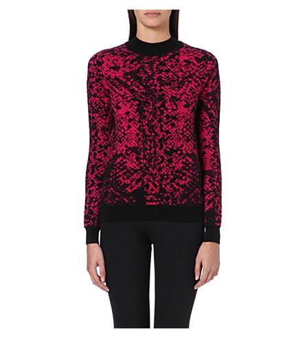 CHRISTOPHER KANE Jacquard-knit cashmere jumper (Pink