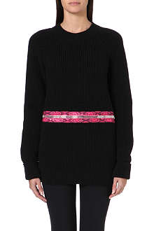 CHRISTOPHER KANE Zip-detail ribbed jumper