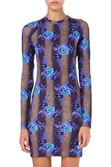 CHRISTOPHER KANE Floral stretch-jersey dress