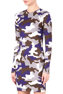 CHRISTOPHER KANE Camouflage-print bodycon dress