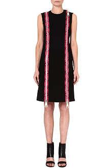 CHRISTOPHER KANE Zip-detail crepe dress