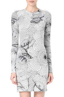 CHRISTOPHER KANE Geometric floral jersey dress
