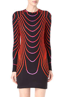 CHRISTOPHER KANE Curved stripes jersey dress