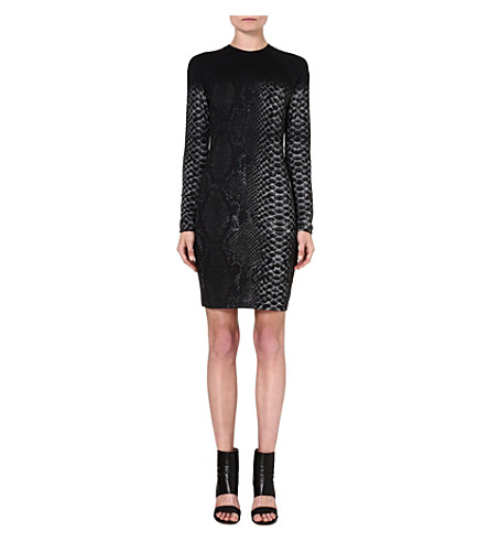 CHRISTOPHER KANE Fitted snake-print dress (Grey