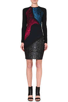 CHRISTOPHER KANE Fitted snake-print dress