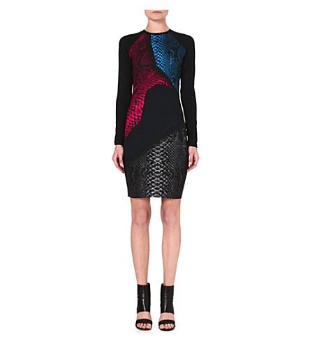 CHRISTOPHER KANE Fitted snake-print dress (Multi
