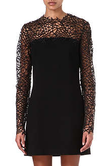 CHRISTOPHER KANE Lace-trimmed wool dress