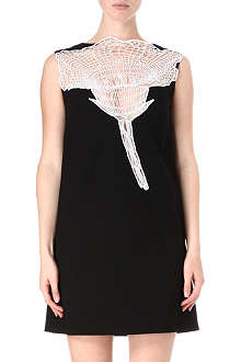 CHRISTOPHER KANE Contrast-lace carnation dress