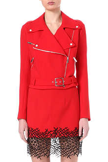 CHRISTOPHER KANE Wool-crepe biker jacket