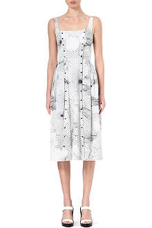 CHRISTOPHER KANE Geometric floral-print dress