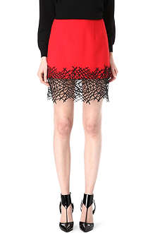 CHRISTOPHER KANE Lace-hem mini skirt