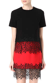 CHRISTOPHER KANE Short-sleeve lace-hem top