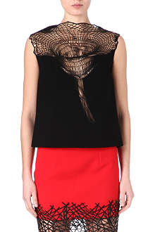 CHRISTOPHER KANE Lace flower-detail top
