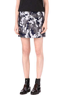 CHRISTOPHER KANE Silk camouflage-print skirt
