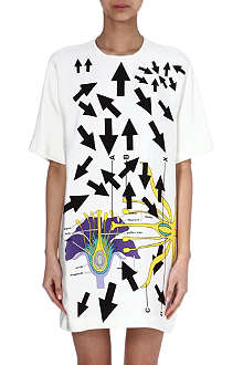 CHRISTOPHER KANE Anatomical flower arrow dress