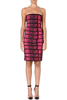 CHRISTOPHER KANE Snake-print panelled dress